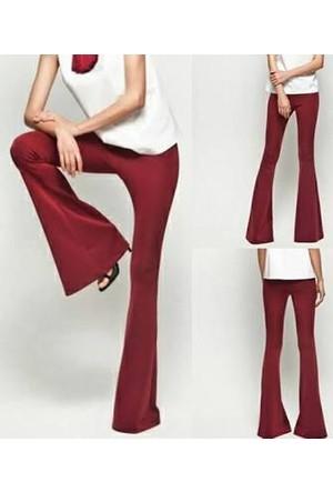 Vintage Tekstil Dalgıç Kumaş İspanyol Paça Likralı Tayt
