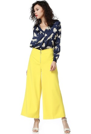 Bsl Fashion Sarı Pantolon 9238