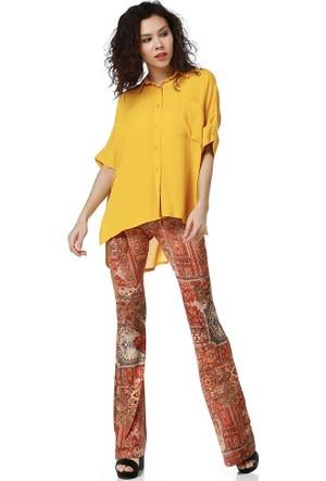 Bsl Fashion Desenli-1 Pantolon 9180