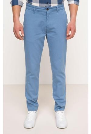 DeFacto Erkek Basic Gabardin Chino Pantolon Mavi
