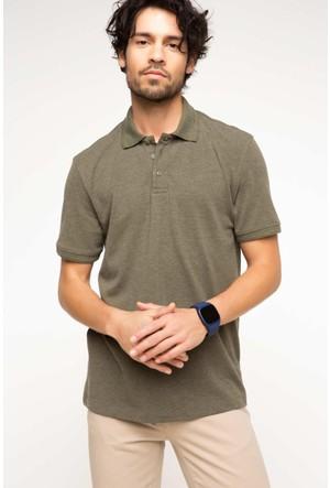 DeFacto Erkek Basic Polo T-Shirt Haki