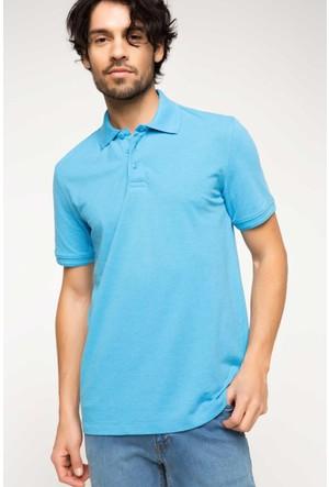 DeFacto Erkek Basic Polo T-Shirt Mavi