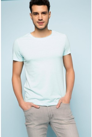 DeFacto Erkek Ekstra Slim Fit Basic T-Shirt Mint
