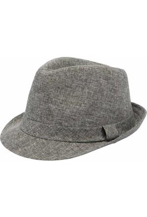 DeFacto Erkek Fötr Şapka Gri Melanj