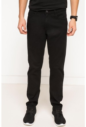 DeFacto Erkek Basic 5 Cep Gabardin Pantolon Siyah