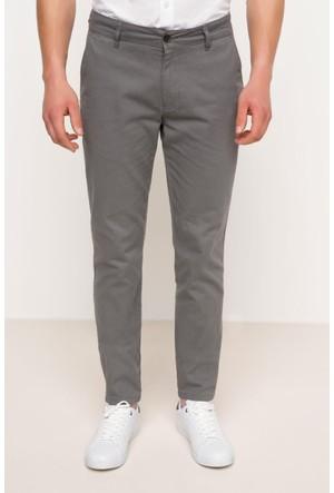 DeFacto Erkek Basic Gabardin Chino Pantolon Füme