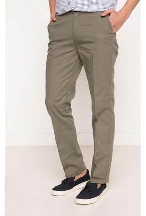 DeFacto Erkek Basic Rahat Chino Pantolon Yeşil