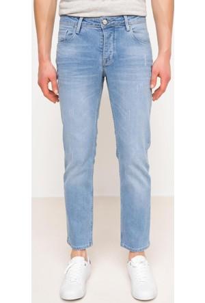 DeFacto Erkek Denim Premium Regular Pantolon Açık Mavi