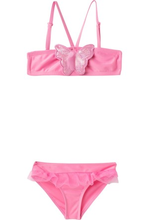 DeFacto Kız Çocuk Straplez Bikini Pembe