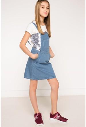 DeFacto Kız Çocuk Denim Elbise Açık Mavi