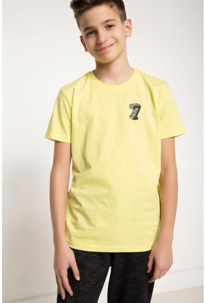 DeFacto Erkek Çocuk Baskılı T-Shirt Sarı