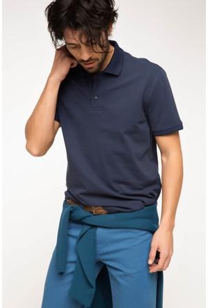 DeFacto Erkek Basic Polo T-Shirt İndigo