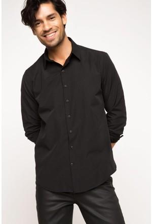 DeFacto Erkek Basic Gömlek Siyah