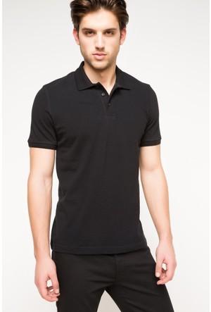 DeFacto Erkek Basic Polo T-Shirt Siyah