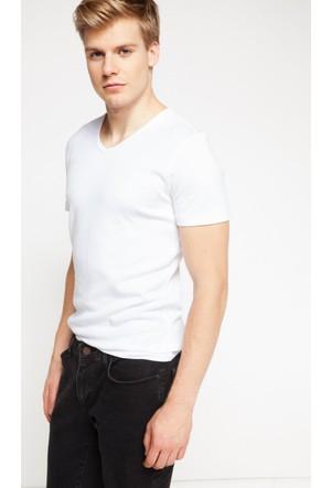 DeFacto Erkek Basic T-Shirt Beyaz