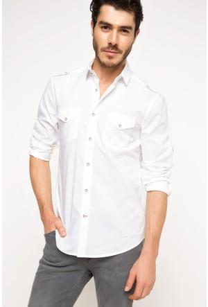 DeFacto Erkek Vual Gömlek Beyaz