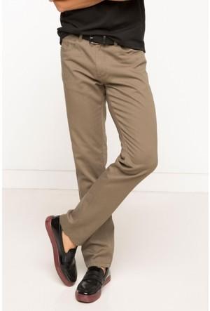 DeFacto Erkek Basic 5 Cep Gabardin Pantolon Kahverengi
