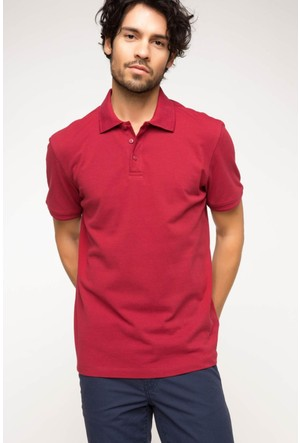 DeFacto Erkek Basic Polo T-Shirt Bordo