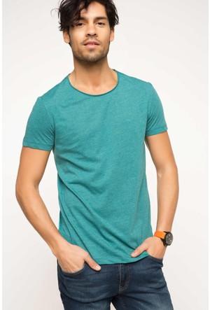 DeFacto Erkek Ekstra Slim Fit Basic T-Shirt Yeşil