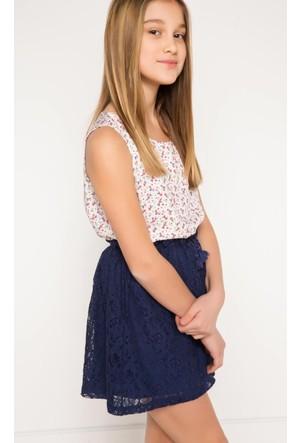 DeFacto Kız Çocuk Bluz Ekru