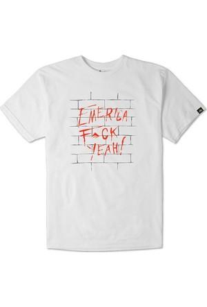 Emerica Fuck Yeah Wall White Erkek T-Shirt