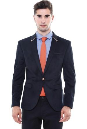 Wss Wessi Üst Yaka Triko Fermuarlı Velvet Ceket