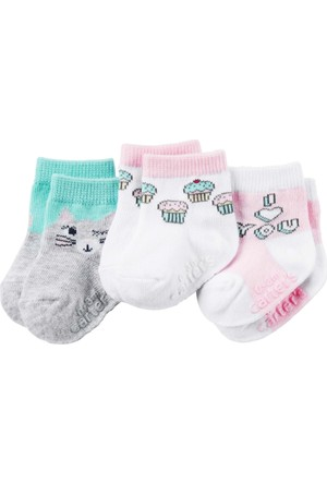 Carter's Kız Çocuk 3'lü Çorap 17263