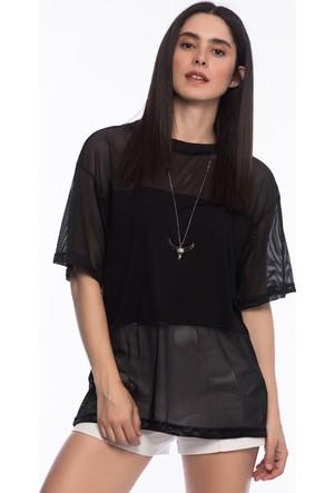 Bsl Fashion Siyah T-Shirt 9296