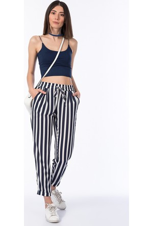 Bsl Fashion Çizgili Pantolon 10236