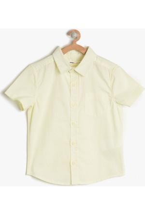 Koton Erkek Çocuk Cep Detaylı Gömlek Sarı