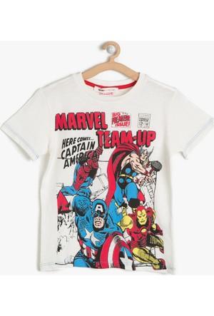 Koton Erkek Çocuk Marvel Baskılı T-Shirt Beyaz