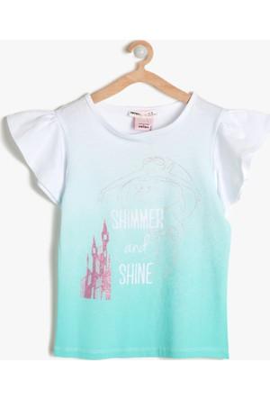 Koton Kız Çocuk Disney Baskılı T-Shirt Mint