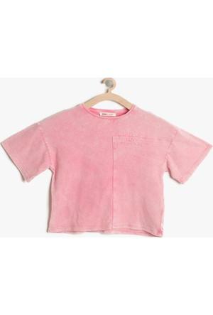 Koton Kız Çocuk Yazılı Baskılı T-Shirt Pembe