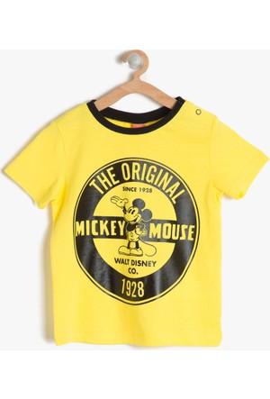 Koton Erkek Çocuk Mickey Baskılı T-Shirt Sarı