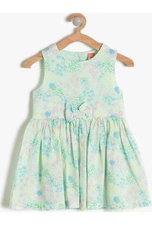 Koton Kız Çocuk Fiyonk Detaylı Elbise Mint
