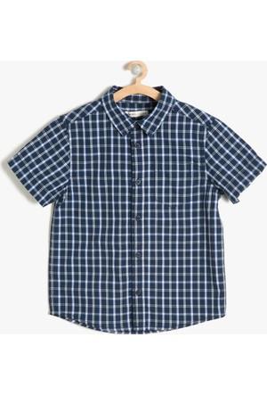 Koton Erkek Çocuk Kareli Gömlek Lacivert