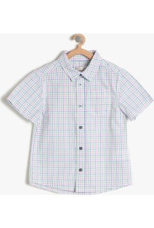 Koton Erkek Çocuk Kareli Gömlek Gül Rengi
