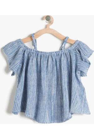 Koton Kız Çocuk Rahat Kesim Bluz Lacivert
