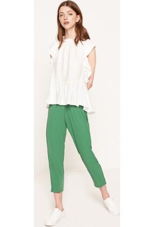 Koton Kadın Beli Bağlamalı Pantolon Yeşil