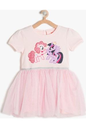 Koton Kız Çocuk My Little Ponny Baskılı Elbise Pembe