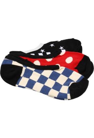 Vans Checks&Amp;Spotscanoodles 3Pk Çok Renkli Kadın Çorap