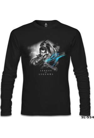 Lord Sweatshirt League Of Legends - Yasuo 3 Siyah Erkek Sweatshirt