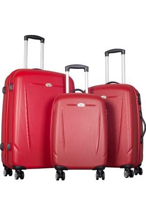 Ççs Polycarbonate Set Ççs5132 Valiz - Set Kırmızı
