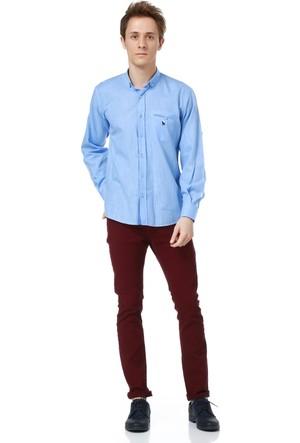 Dewberry G615 Erkek Gömlek Mavi