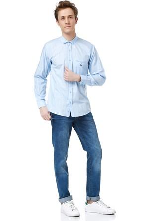Dewberry G615 Erkek Gömlek Açık Mavi