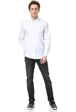 Dewberry G616 Erkek Gömlek Beyaz