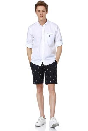 Dewberry G615 Erkek Gömlek Beyaz