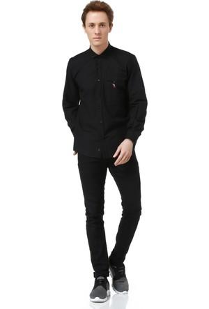 Dewberry G615 Erkek Gömlek Siyah