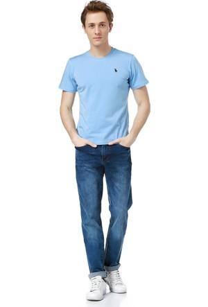 Dewberry T8536 Erkek T-Shırt Mavi