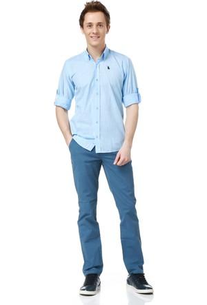 Dewberry G616 Erkek Gömlek Mavi